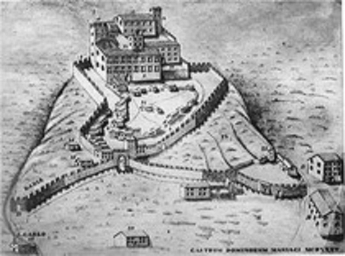 Artist's rendition of possible outline of the Castle of Maniago