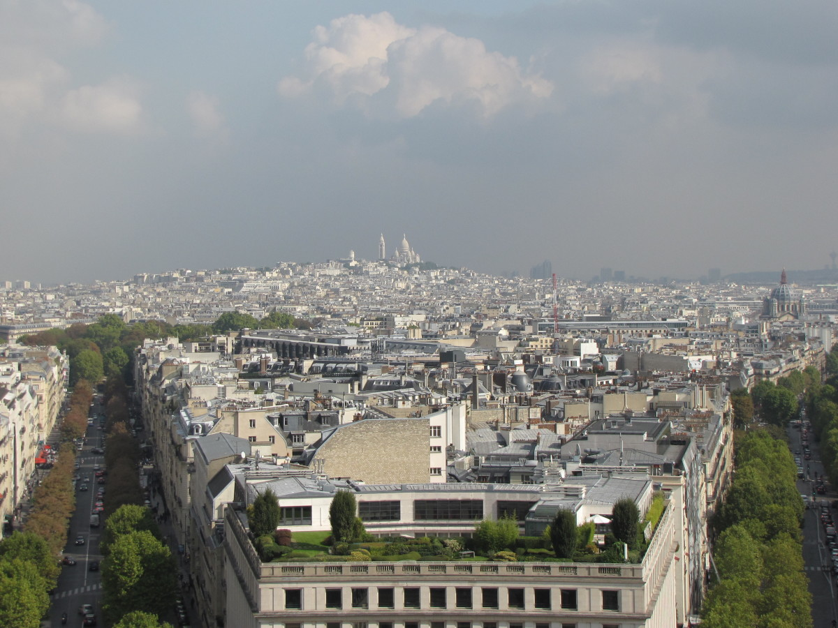 Sacre-Coeur from the Arc de Triomphe