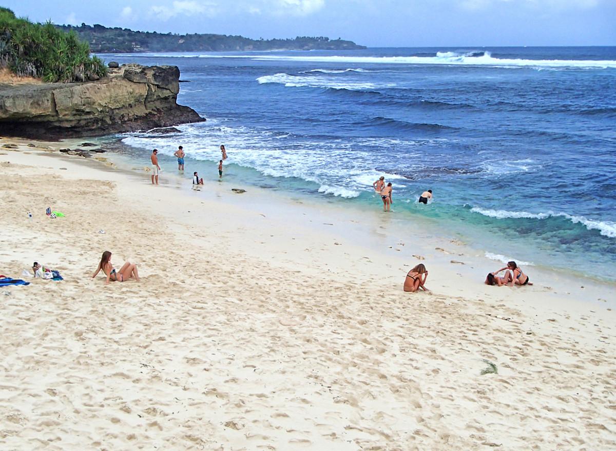 A beautiful day on Dream Beach.