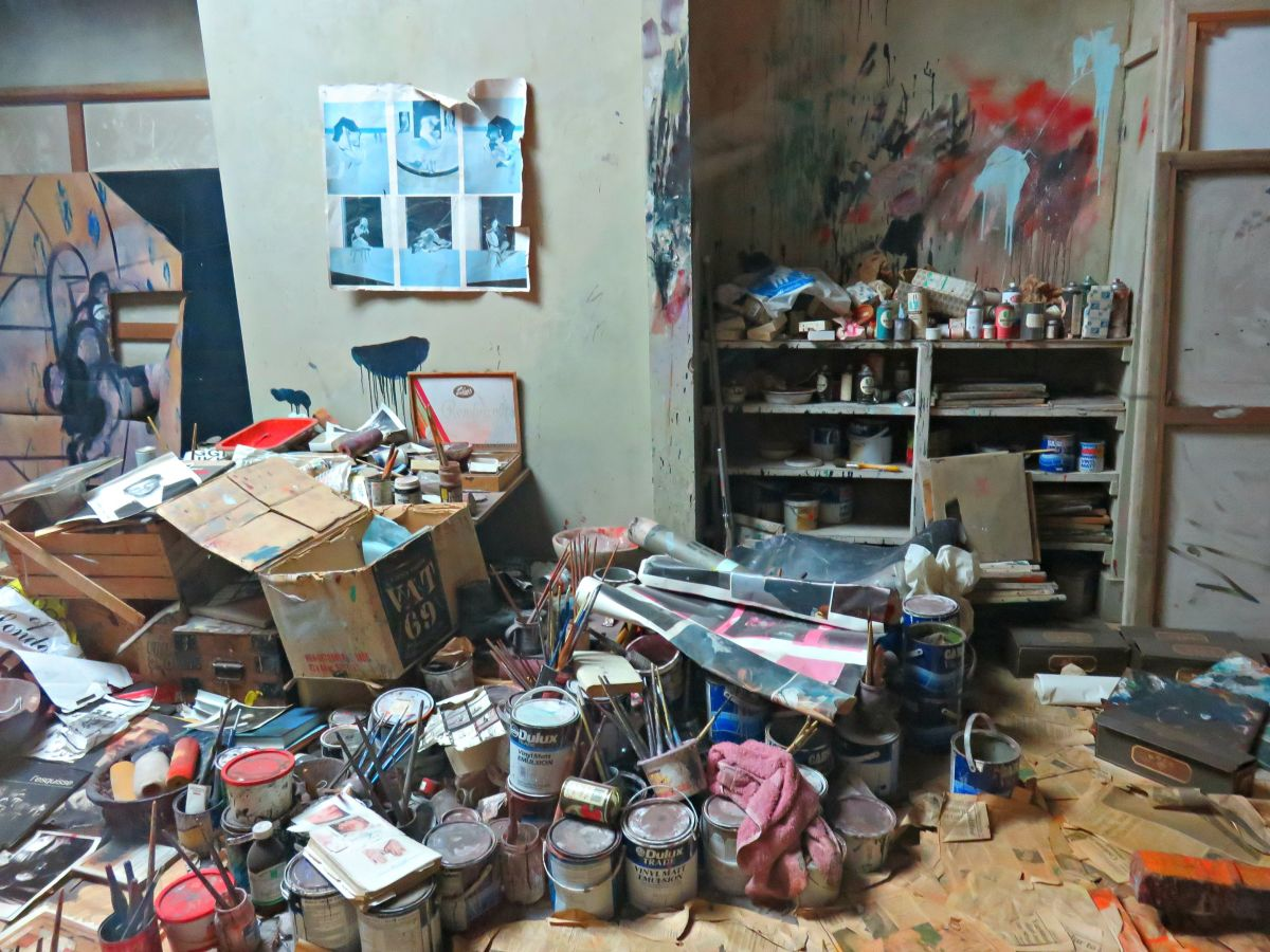 Dublin Hugh Lane Gallery, recreation of Irish Artist Francis Bacon's art studio.