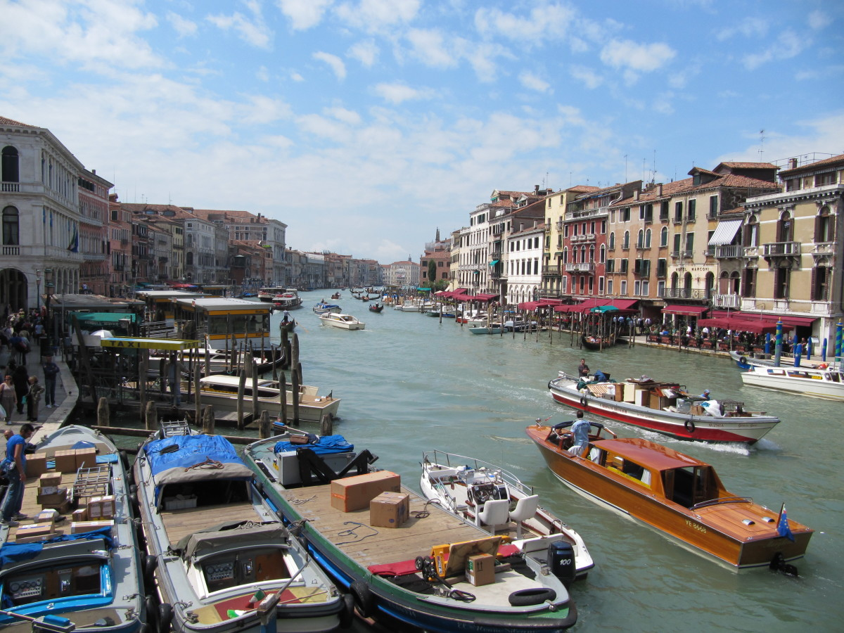 Venice, Italy. Many beautiful European locations just a short flight away.