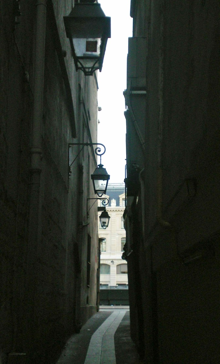 Le Rue du Chat, the narrowest street in Paris, in not the world (c) A. Harrison
