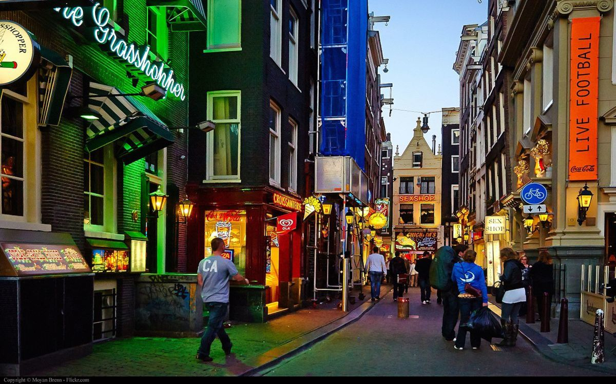 Night scene Amsterdam