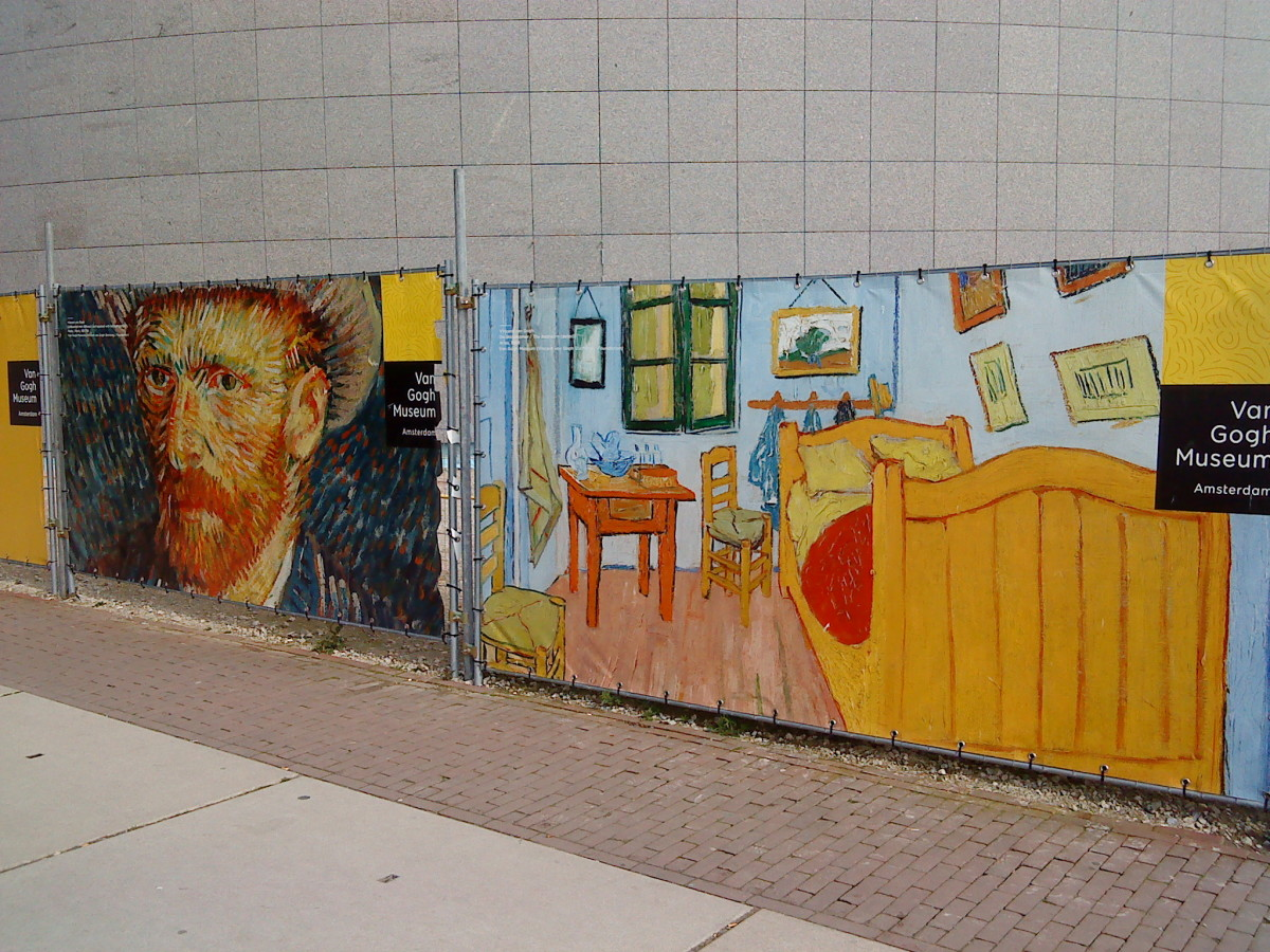 Vincent van Gogh keeping an eye on you in Amsterdam