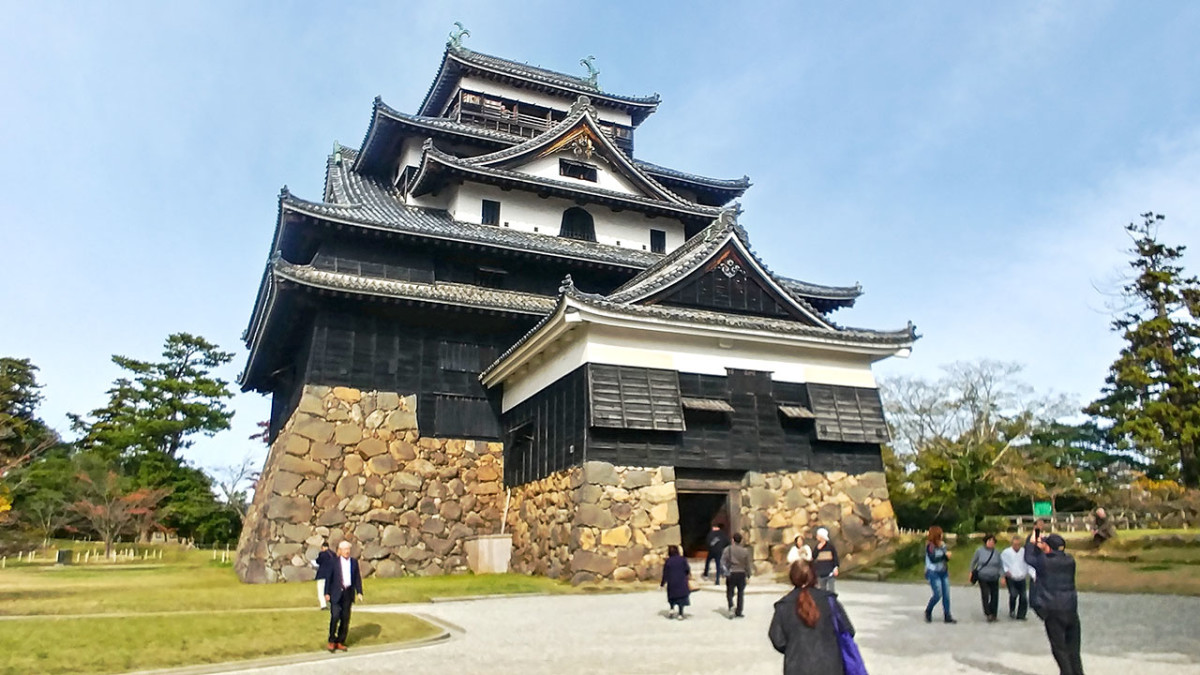 "The austere exterior of Matsue Castle earned it the nickname of the ""Black Castle."""