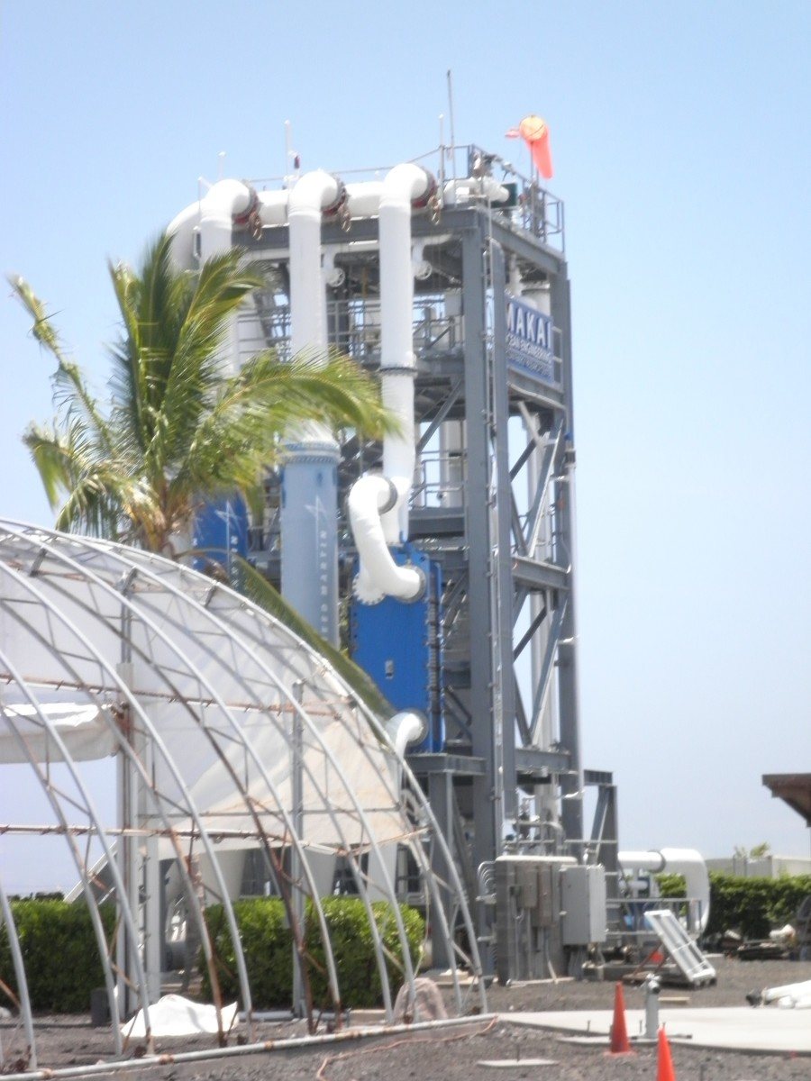 Ocean thermal energy tower on the Natural Energy Laboratory of Hawaii Authority campus