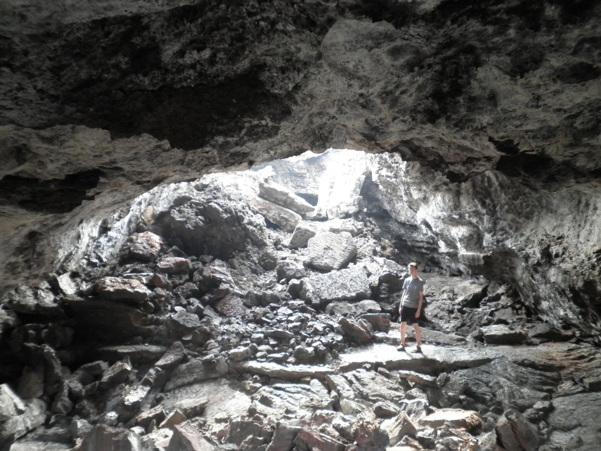 One of the lava tubes that dot the Big Island