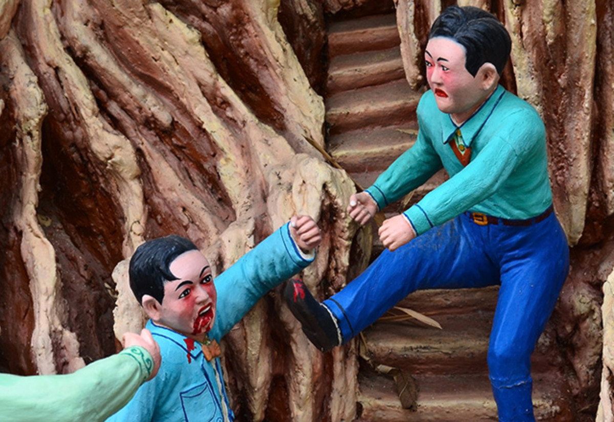 The ugliness of violence is never shied away from in Haw Par Villa.