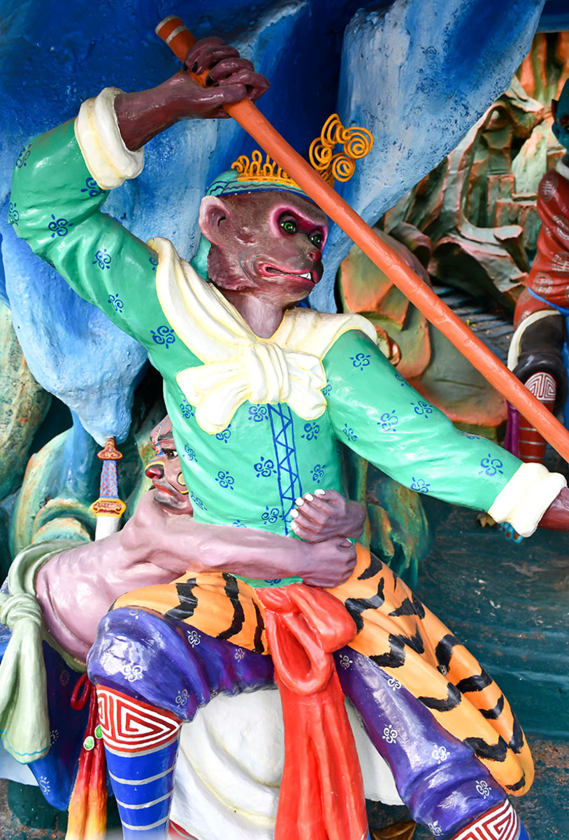The world famous Chinese Monkey King, Sun Wukong.