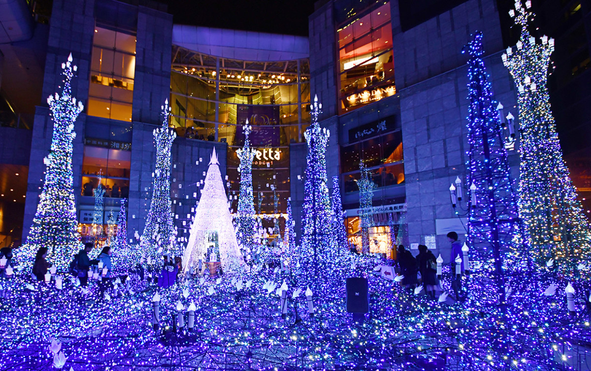Shiodome Caretta Winter Illumination 2018.