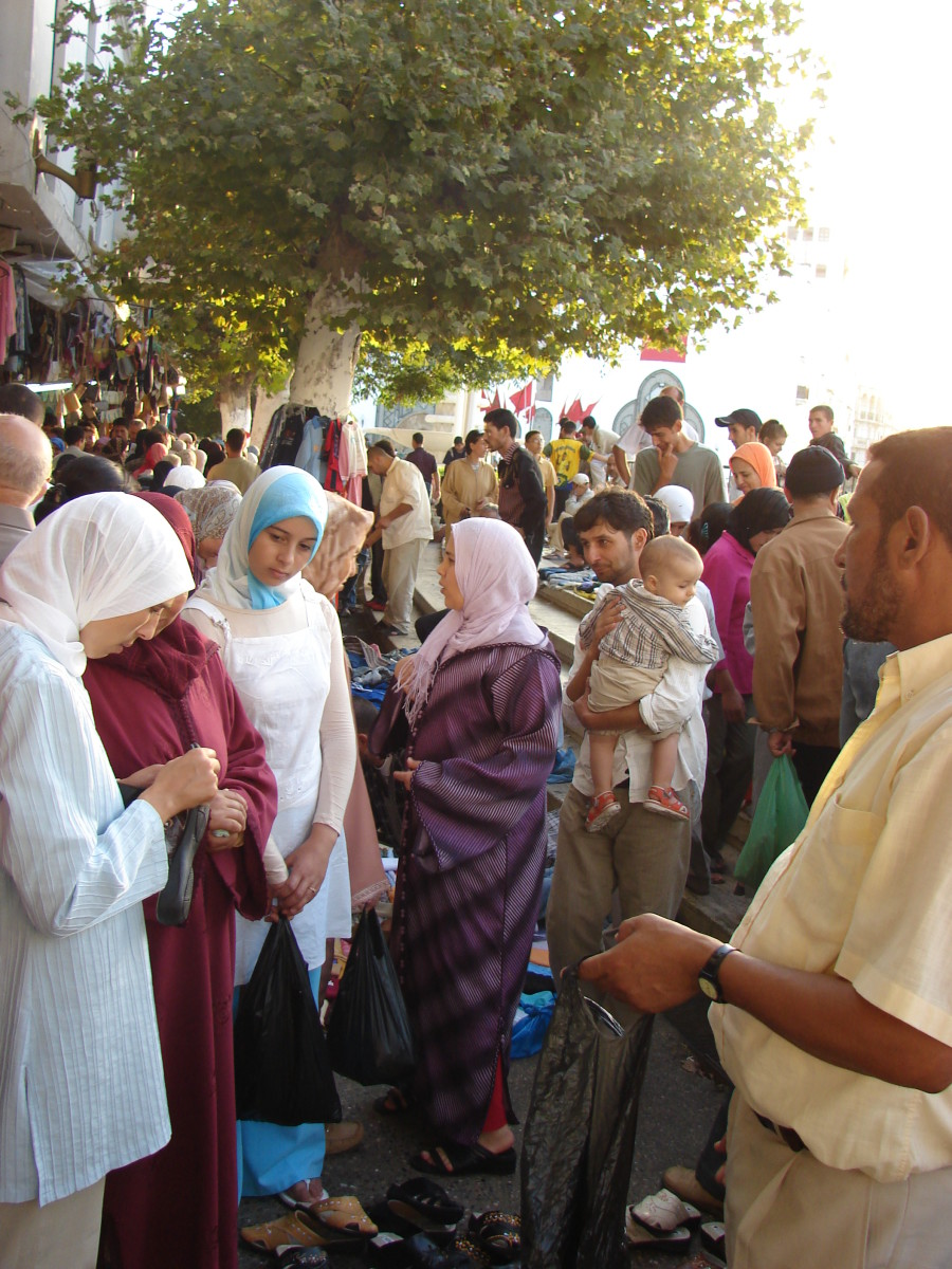 TheTetouan market place is where tourists and  locals alike can shop for a bargain