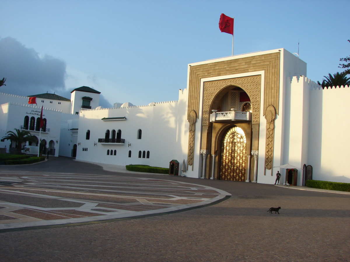 The ornate gate of the palace at Tetouan