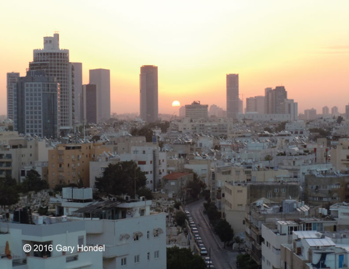 Tel Aviv Skyline from Hotel Window
