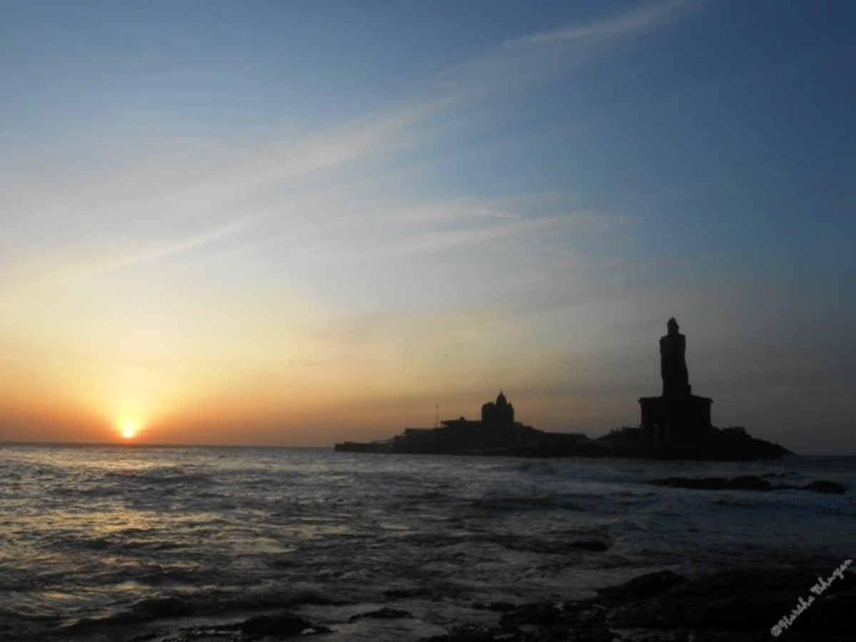Sunrise at Kanyakumari, 6.20 AM
