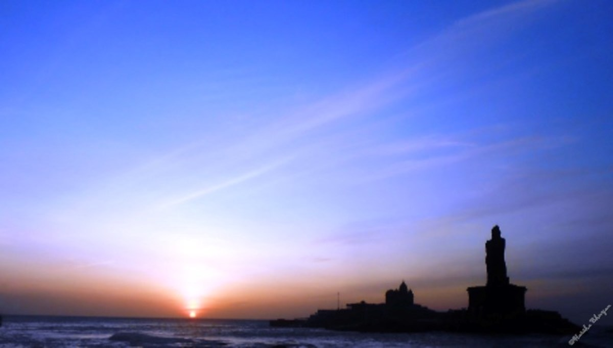 Sunrise at Kanyakumari, 6.19 AM
