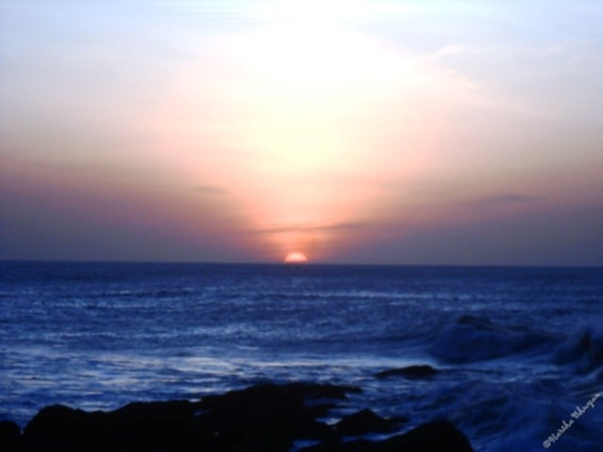Sunrise at Kanyakumari, 6.18 AM