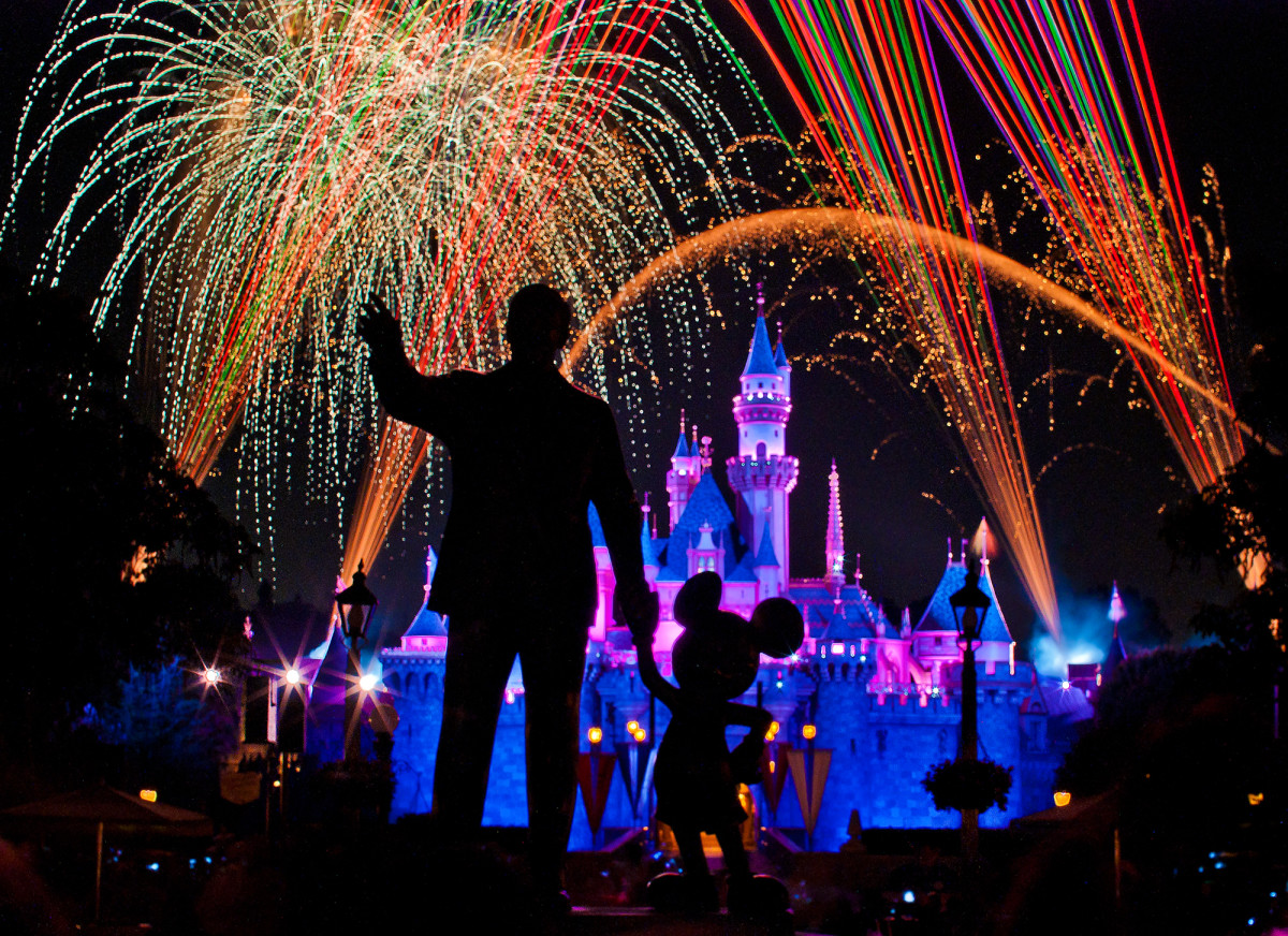 Disneyland puts on a live firework show every night at 9:30pm unless weather conditions prohibit it.