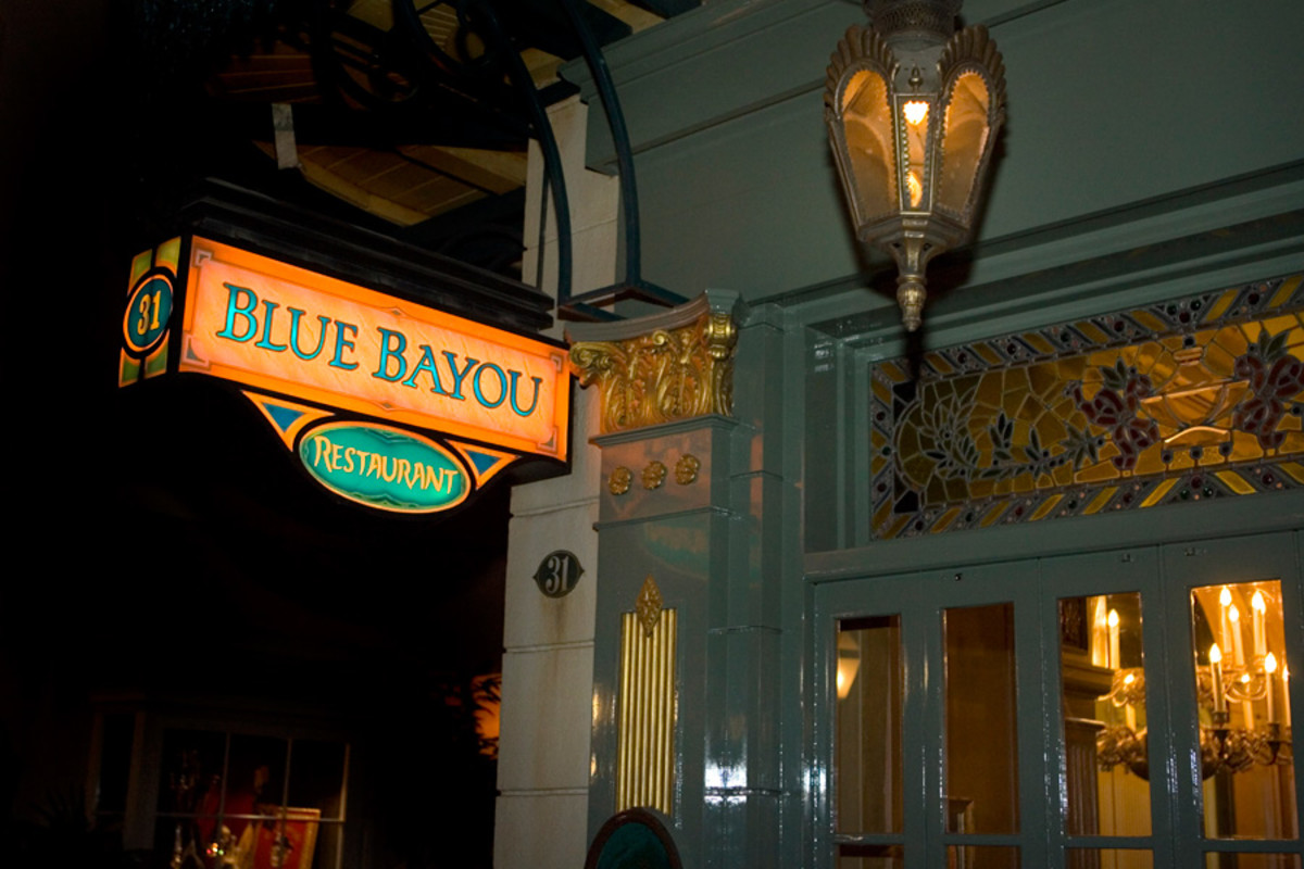 The Blue Bayou, located in the middle of the Pirates of the Caribbean ride, is one of Disneyland's most popular restaurants because of it's unique atmosphere.