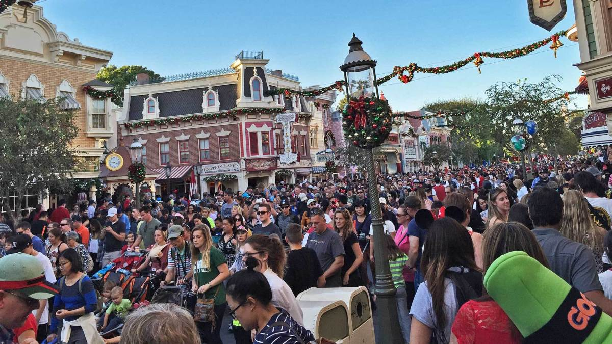 During holidays, crowds at Disneyland can reach record numbers.