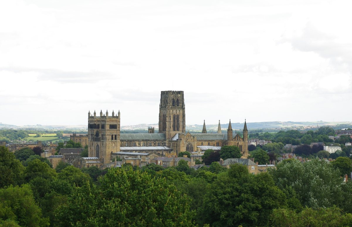 Durham Cathedral as seen from St Aidan's College