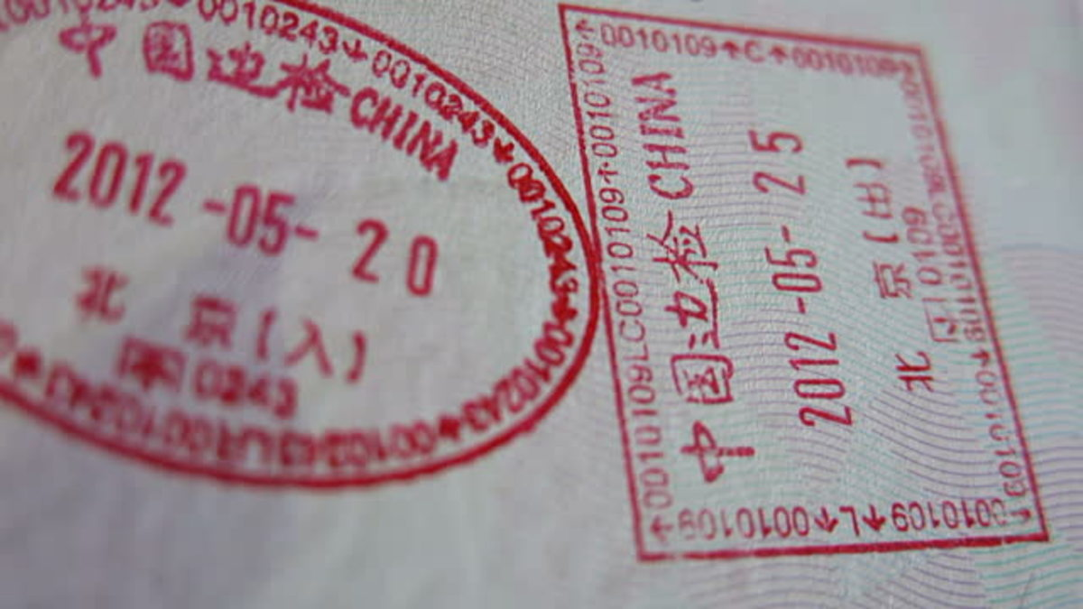 China visa passport stamp
