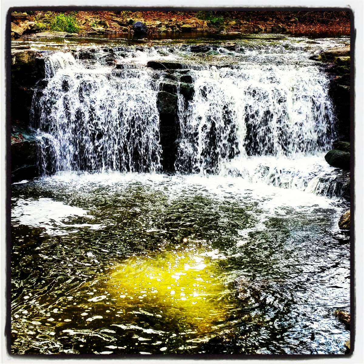Upper Falls - I love the Heart Reflection. God speaks through all that He has made