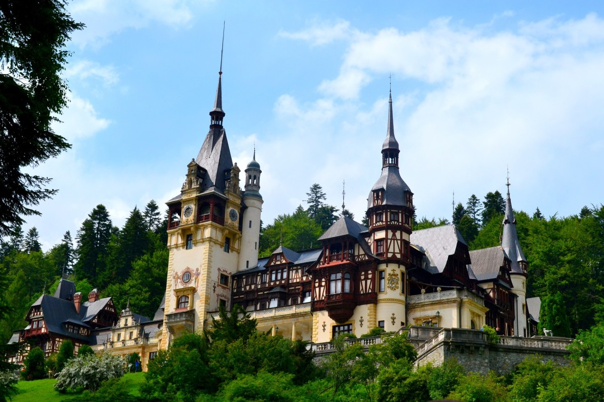 Peles Castle, a Neo-Renaissance gem in the Carpathian Mountains perfect for Castlevania fans.