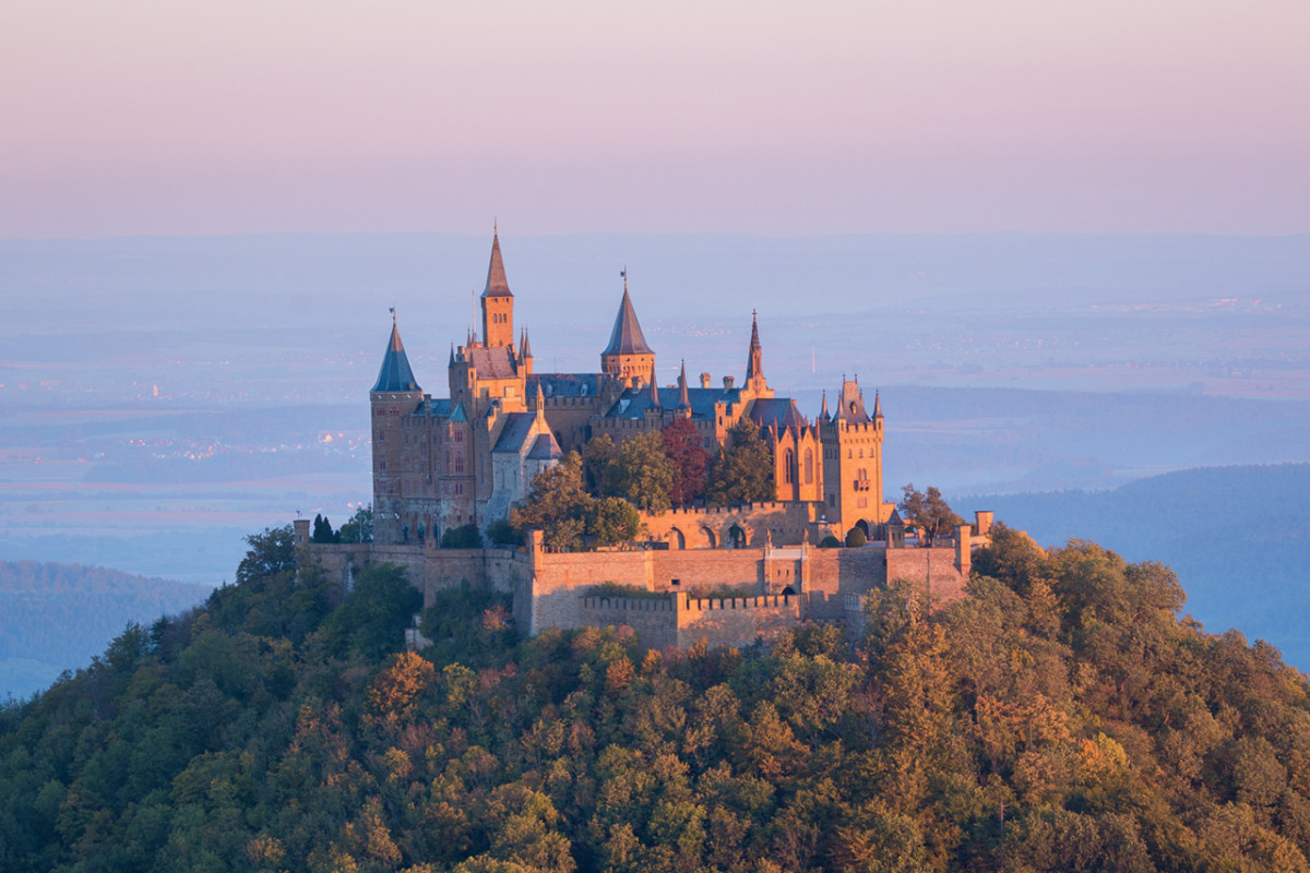 Majestic Hohenzollern Castle of Germany.