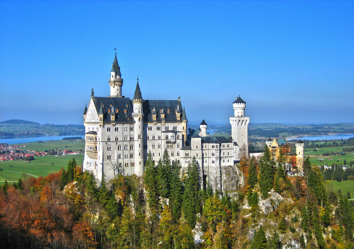 Neuschwanstein was also the inspiration for Disney's Cinderella Castle.