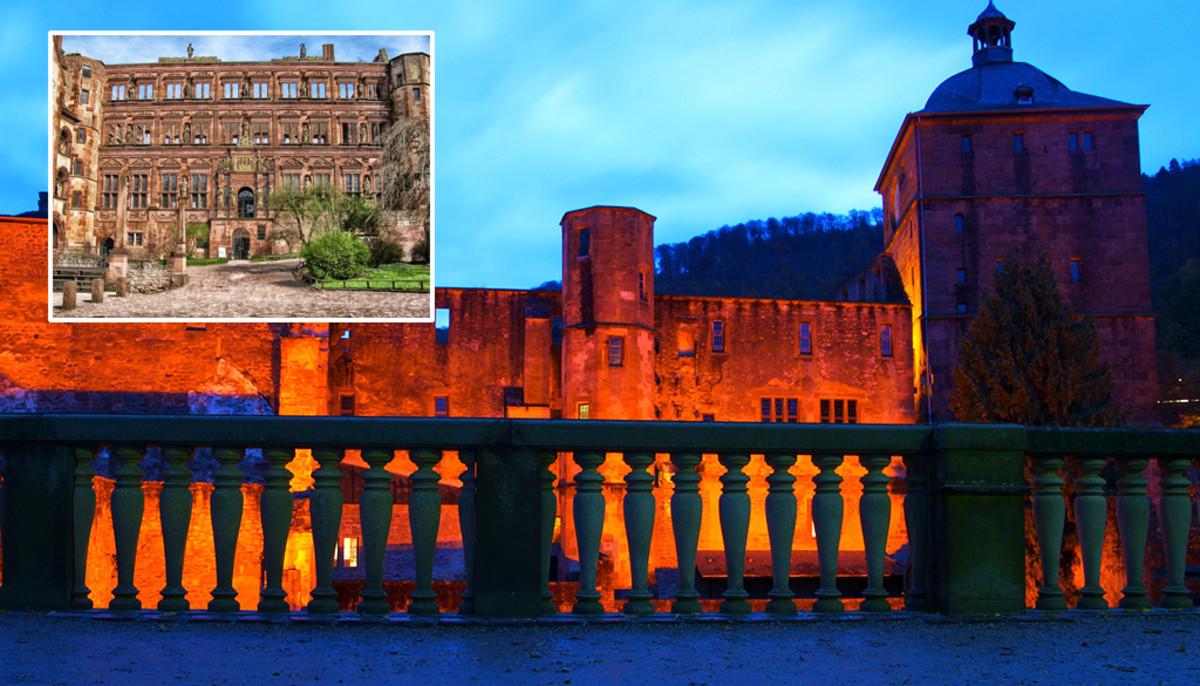 Heidelburg Castle's interior and facade are certainly impressive.