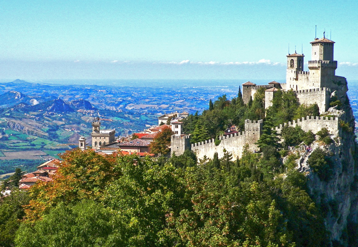 The tiny hilltop state of San Marino resembles a location right out of a video game.