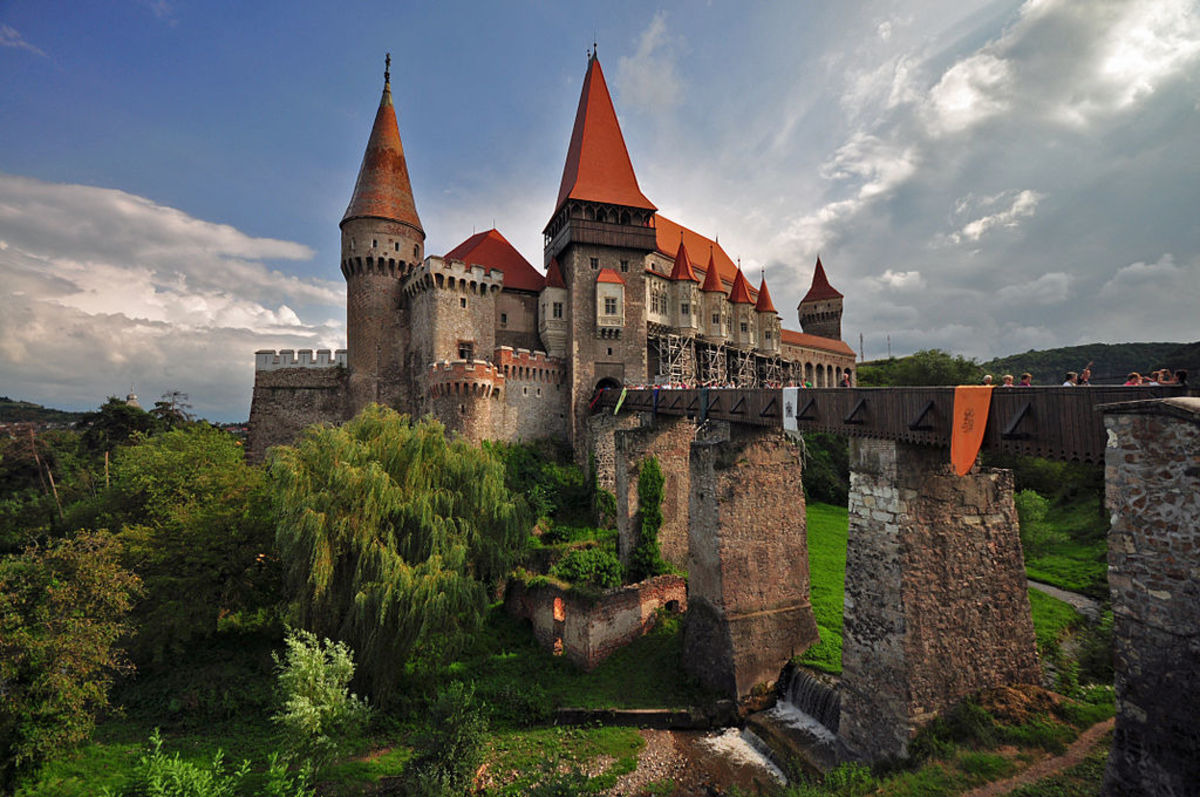 Corvin Castle, where Vlad Tepes (i.e. Dracula himself) was once a prisoner.