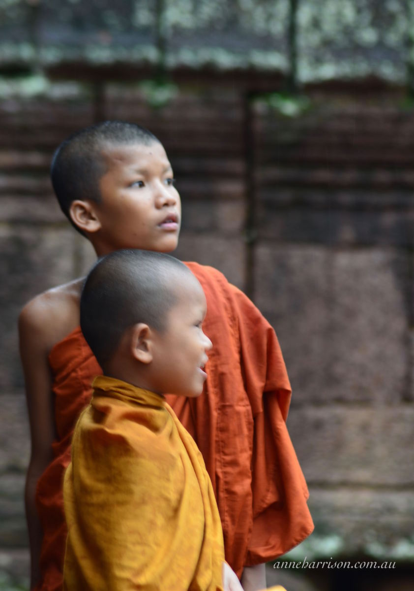 Young monks in the temple