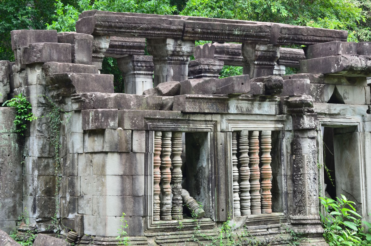 A partially restored temple