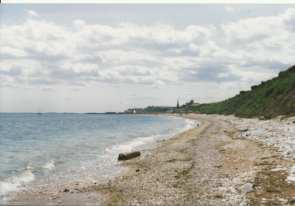 Beach Scene Near Bridlington