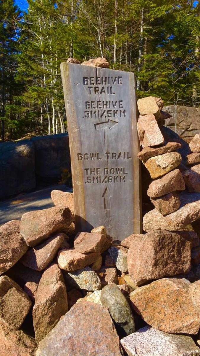 Where the Beehive Trail splits off from the Bowl Trail