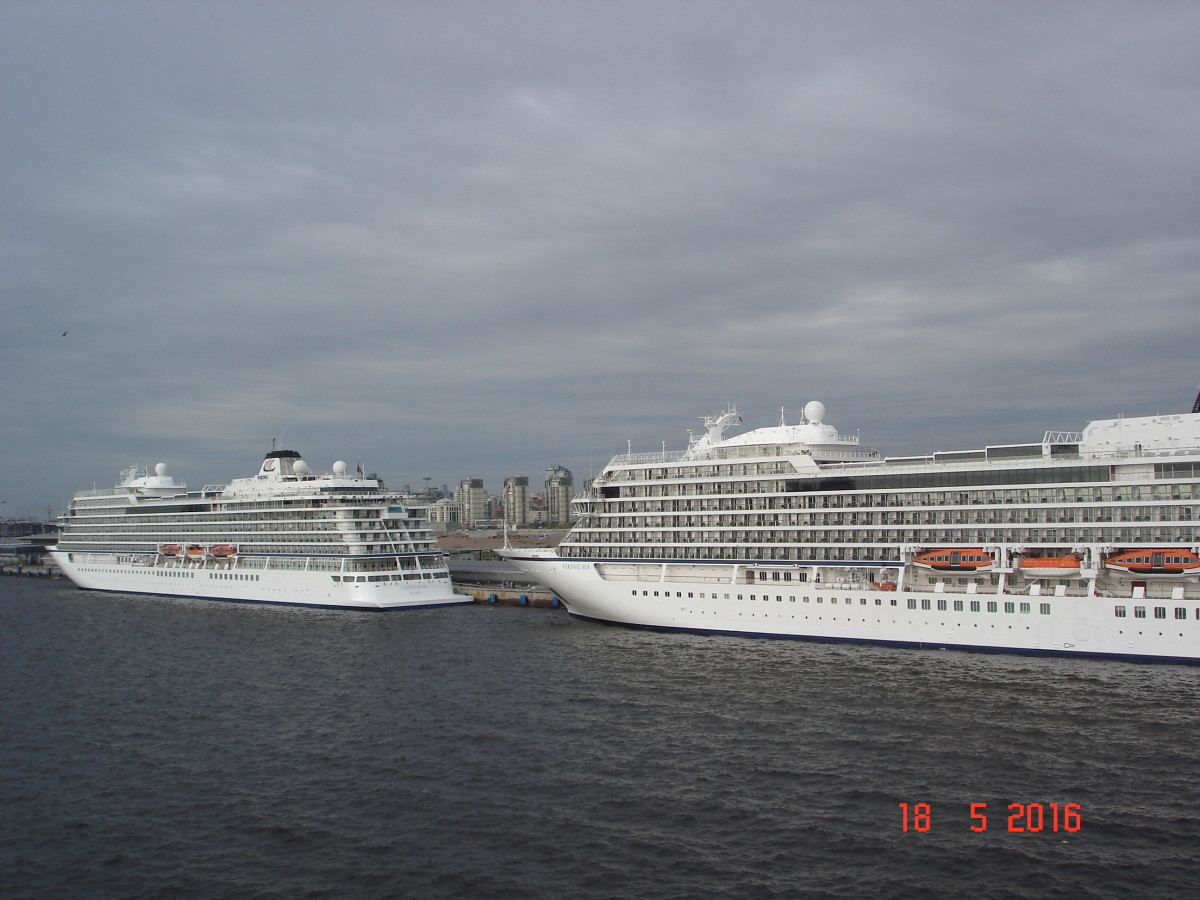 We regularly saw other cruise ships docked nearby