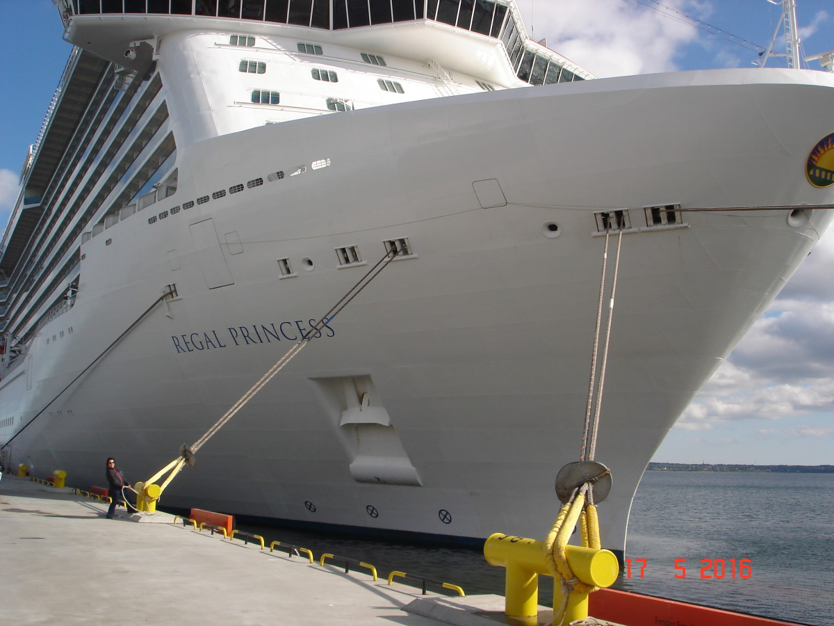 The Regal Princess on her Baltic cruise
