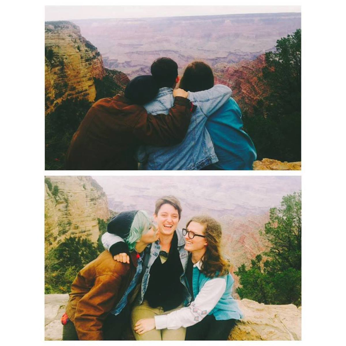 My two trip-mates and I at the Grand Canyon.