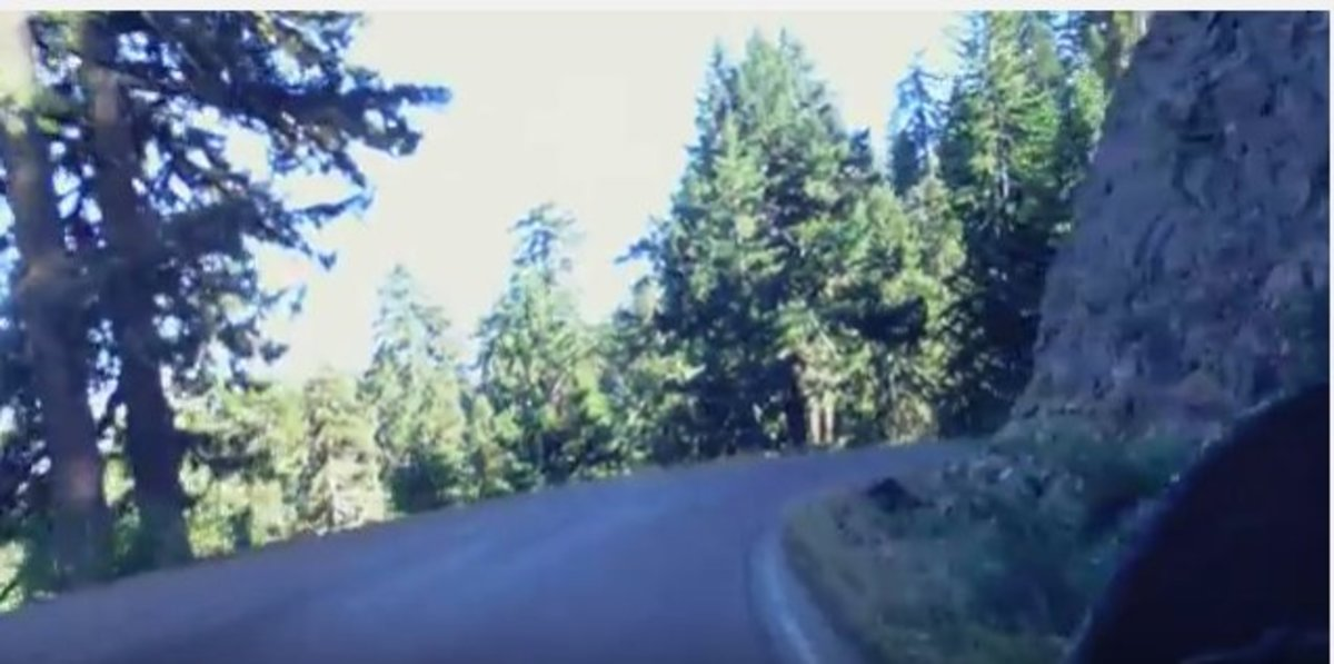 Image capture from youtube video that felt similar to our experience on Bear Camp Road in the Oregon wilderness