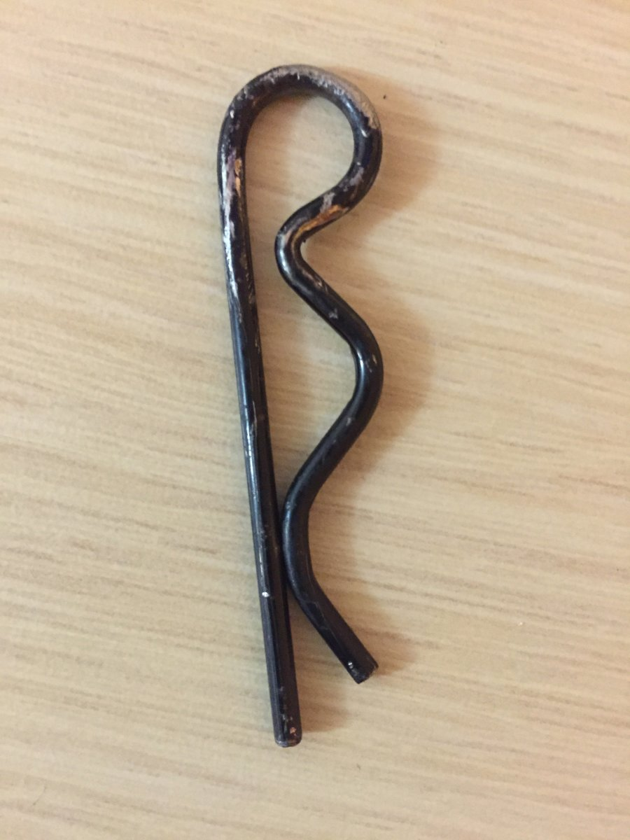the cotter key taken out of our tire