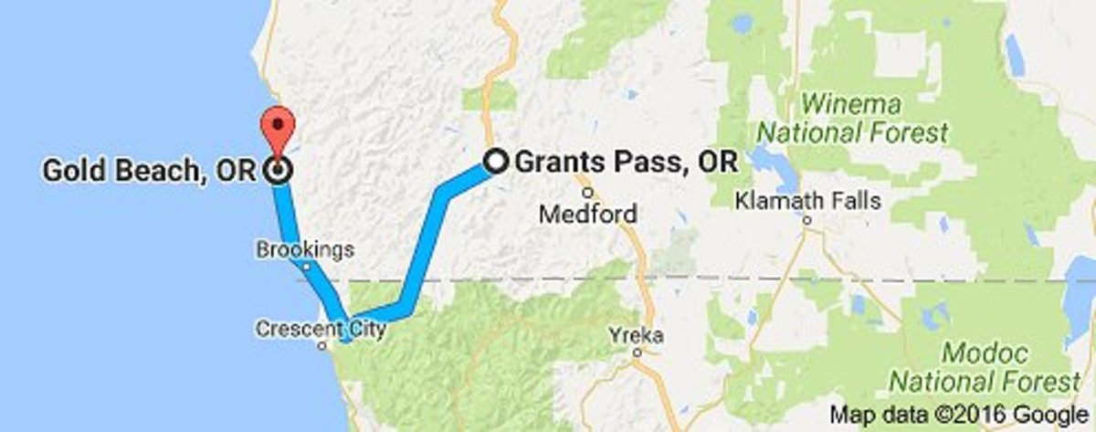 The SAFEST Route to Take from Gold Beach, Oregon to Grants Pass, Oregon or from Grants Pass to Gold Beach