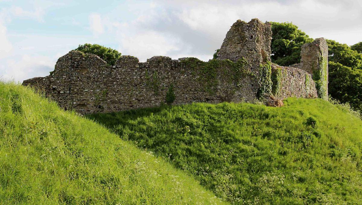 Not Castle Rising Castle, but Castle Acre Castle - in Castle Acre