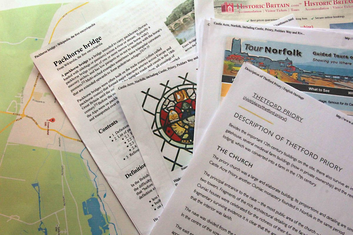 Printed information including local maps and directions. All I needed?