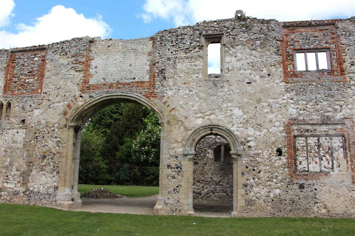 The prior's' lodgings - the two arched doorways date to the 12th century