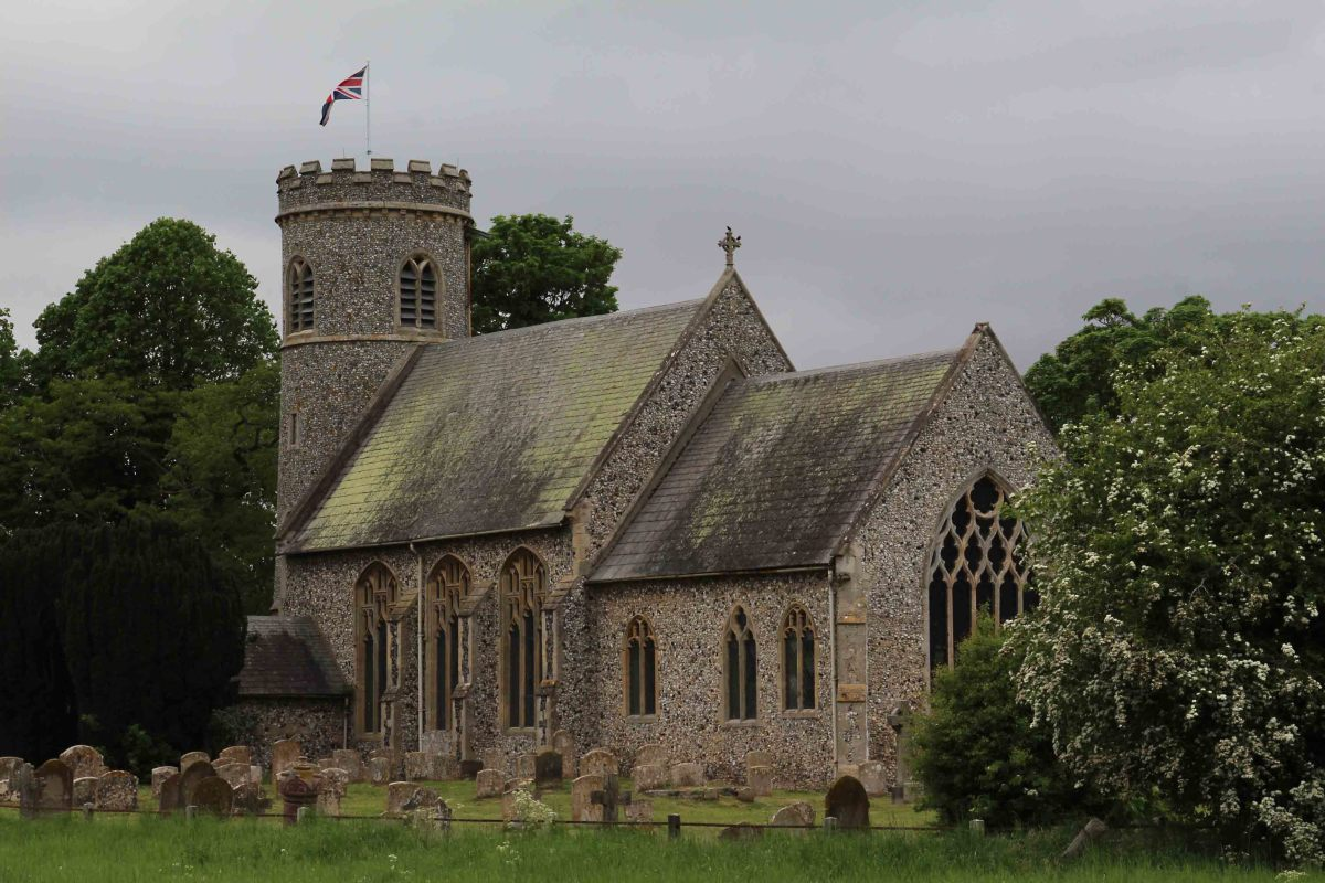 St Mary's Church - a medieval church with a round tower added in Victorian times