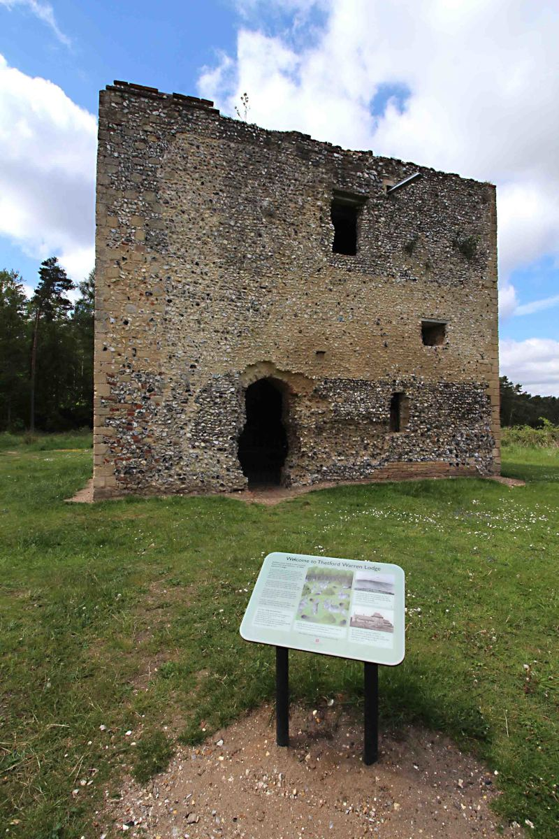 Even such a small ruin as Thetford Warren Lodge, has detailed noticeboards, which explain its history and features.