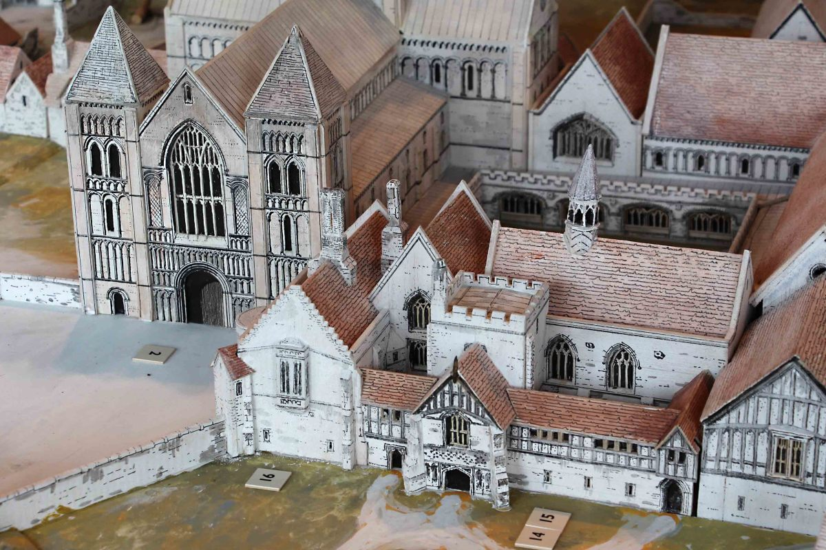 A re-creatiion of what Castle Acre Priory once looked like. This model is in the excellent Visitor Centre