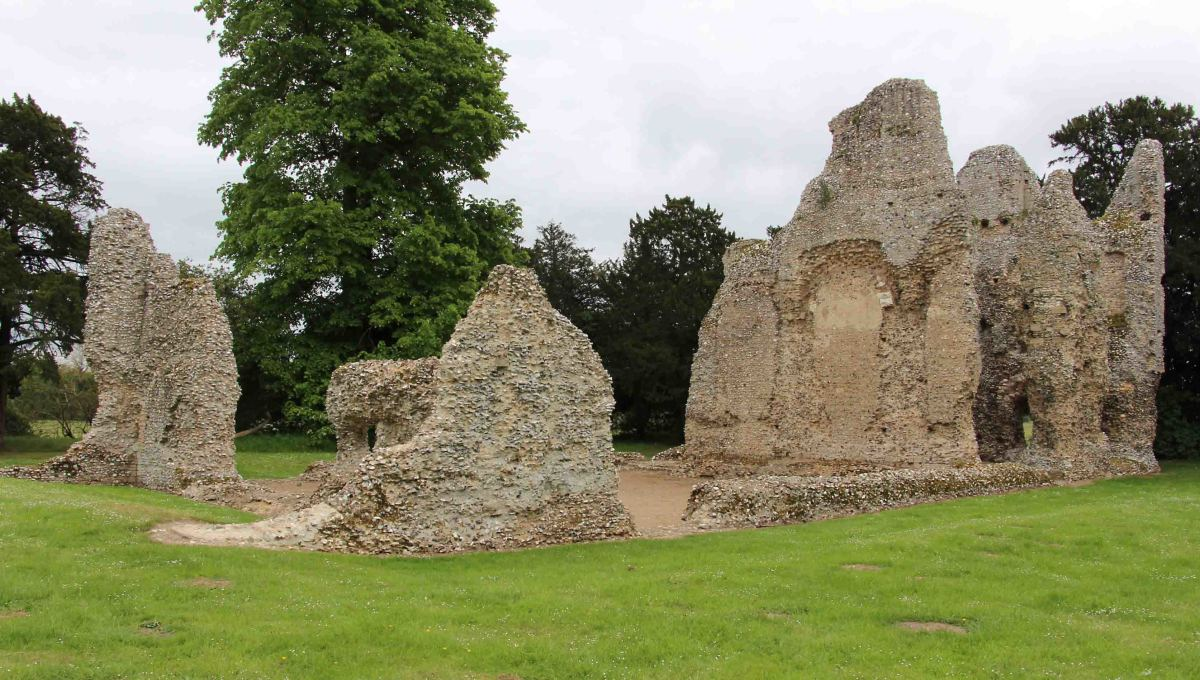 The ruins of Weeting Castle