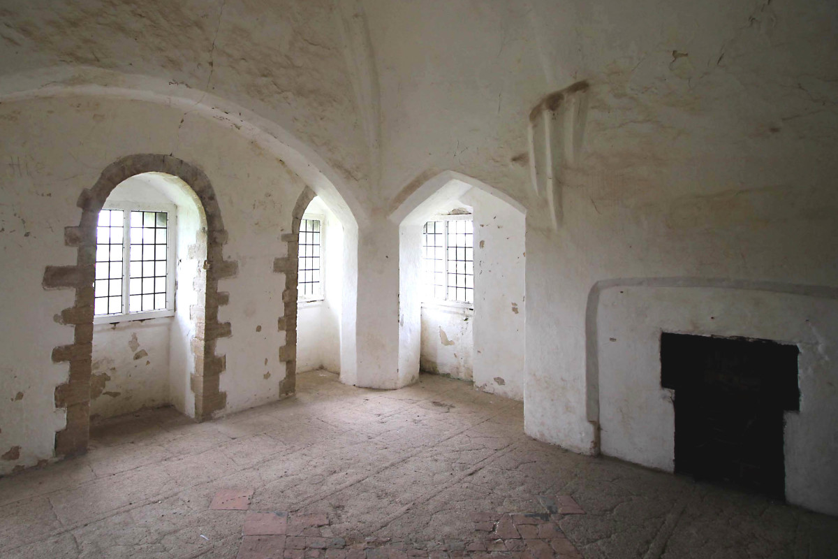 One of the rooms of the castle keep, dating to the 13th or 14th century